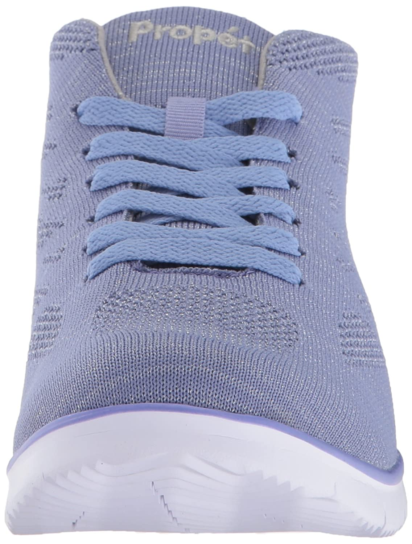 Propet Women's TravelFit Hi Walking Shoe B073DLFQLT 7.5 B(M) US|Purple/Silver