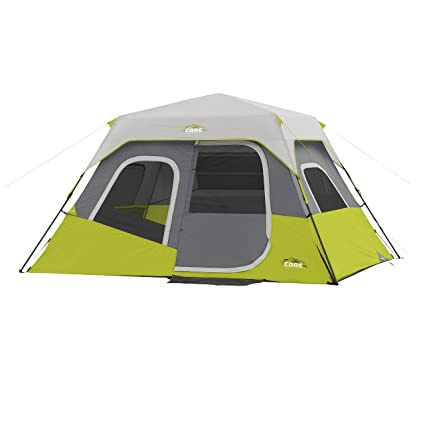 CORE Instant Cabin Tent 6 Person ...  sc 1 st  Amazon.com & Amazon.com : CORE Instant Cabin Tent 6 Person 11u0027 x 9u0027 : Sports ...