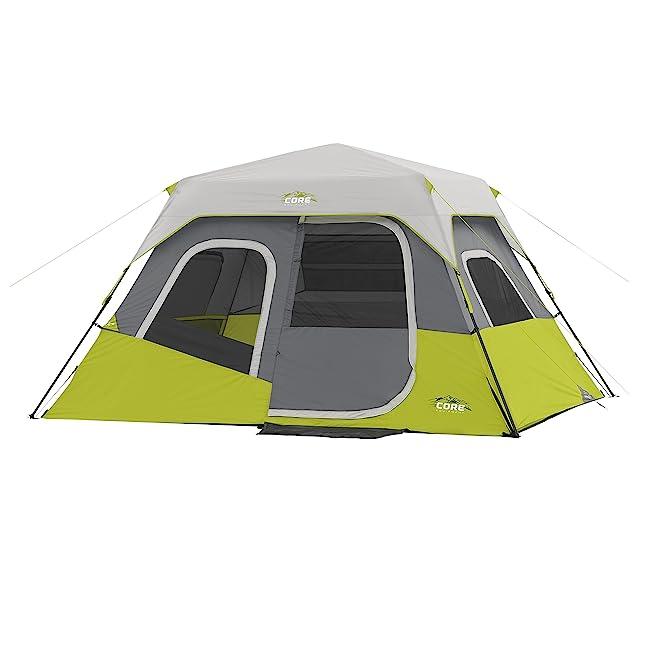 CORE Instant Cabin Tent, 6 Person, 11' x 9'