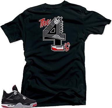 Tee Shirt Match Jordan 4 Bred Sneakers