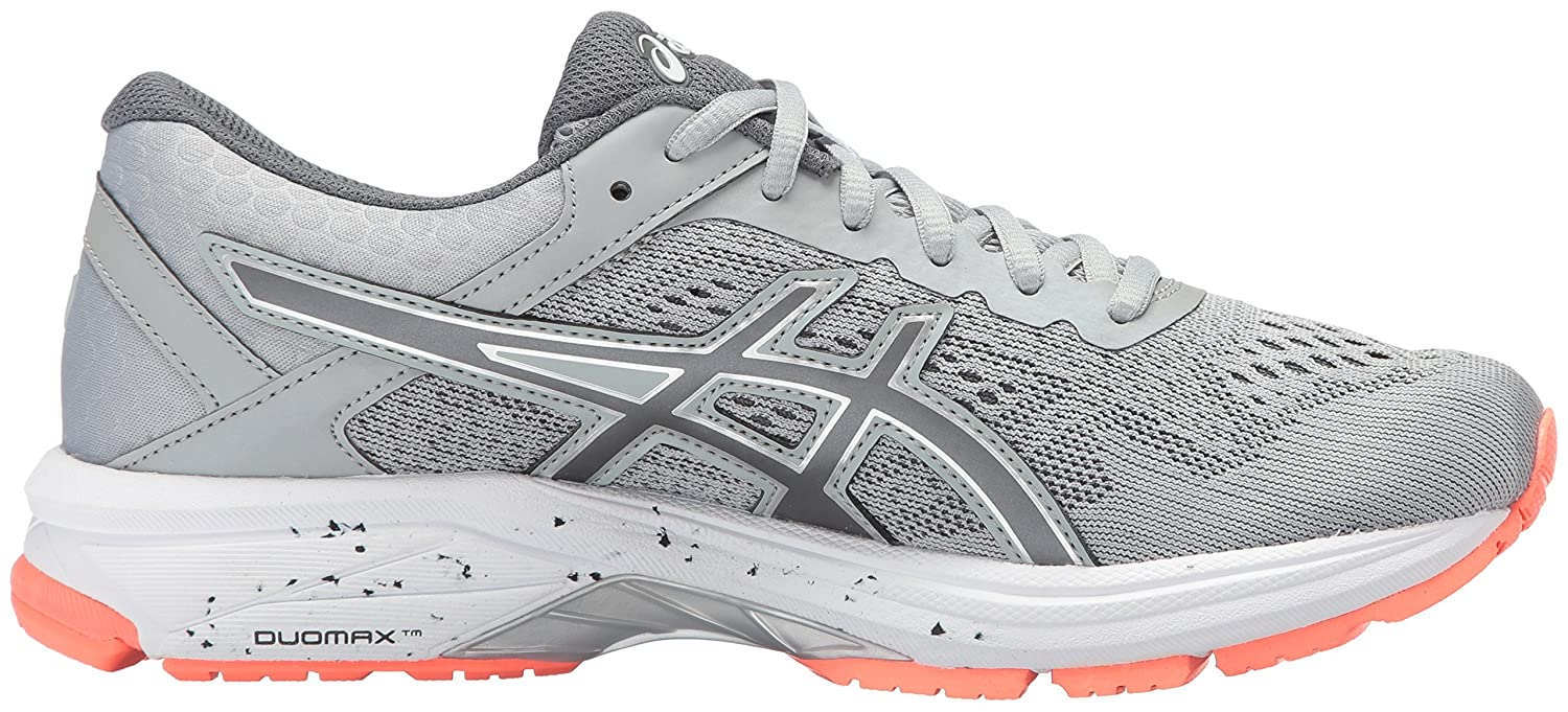 ASICS Women's B01N06M6YZ GT-1000 6 Running Shoe B01N06M6YZ Women's 6.5 D US|Mid Grey/Carbon/Flash Coral d9dd2c