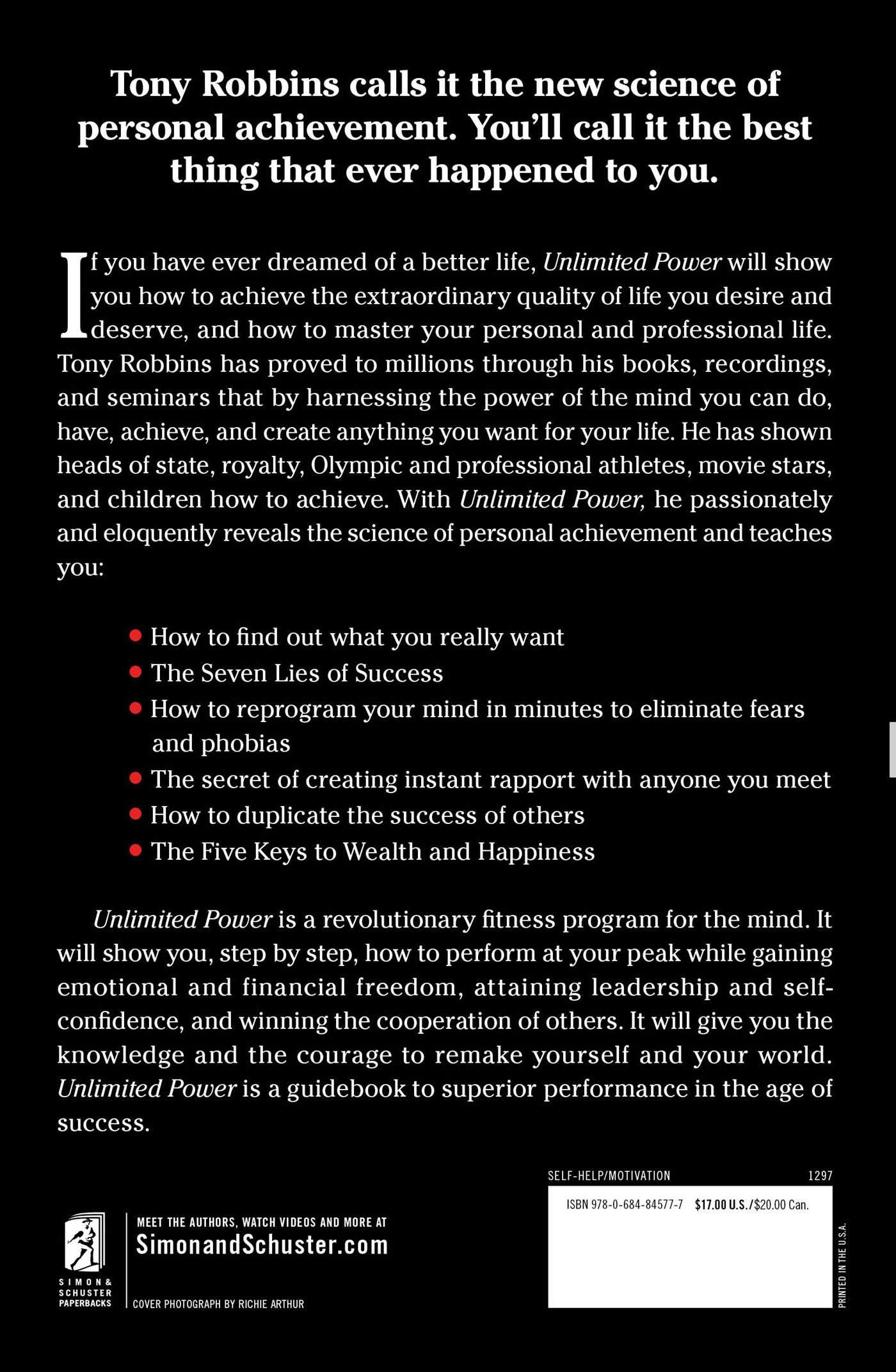 unlimited power the new science of personal achievement english edition