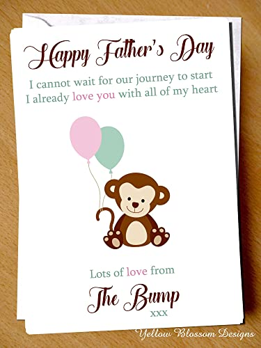 Dad to Be Love From Baby Bump 1st Father's Day Greeting Card