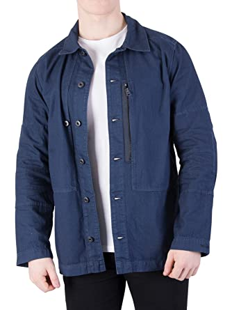 where to buy fashionable patterns high quality materials Amazon.com: G-Star Men's Rackam Zip Overshirt, Blue, Small ...