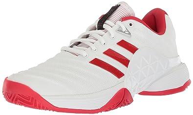 size 40 ec767 1a46f adidas Womens Barricade 2018 W Tennis Shoe, WhiteScarletScarlet, ...