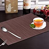 Yellow Weaves 6 Piece Dining Table Placemats - Wine