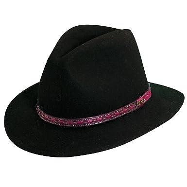 58df3da3 SCALA Crushable Water Repellent Wool Felt Safari Hat at Amazon Men's  Clothing store: