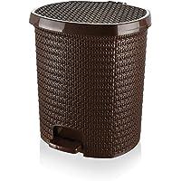 Tuffex Örme Pedallı Çöp Kovası No 4 - Kahve (25 Lt)