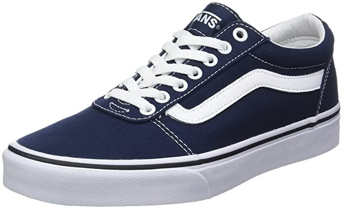 Vans Herren Ward Canvas Sneakers Blau Dress Blues/White Jy3