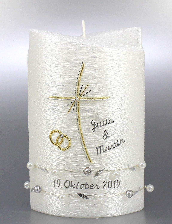 Beschriftung H-36 Hochzeitskerze 250//70 mm inkl