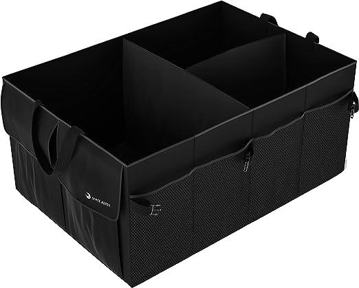 Zooenie Kofferraum Organizer Auto Auto Kofferraumbox Faltbar Autotasche Kofferraumtasche Klappbox Faltbox Autobox Mit Klett Universale Aufbewahrung Taschen 56 X 39 X 26 5cm Auto