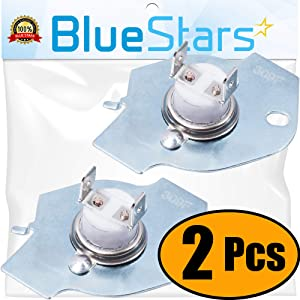 3977393 Thermal Fuse replacement part by Blue Stars - Exact Fit for Whirlpool Kenmore Maytag Dryers - PACK OF 2