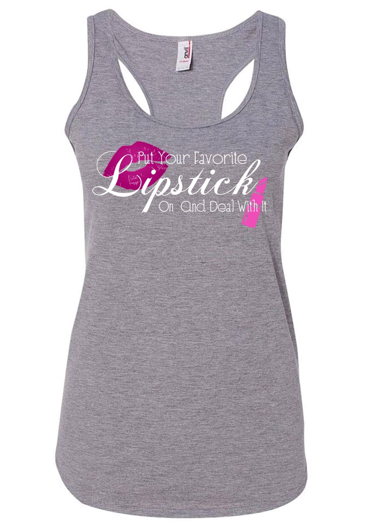 Woman's Tank Top - Lipstick Quote