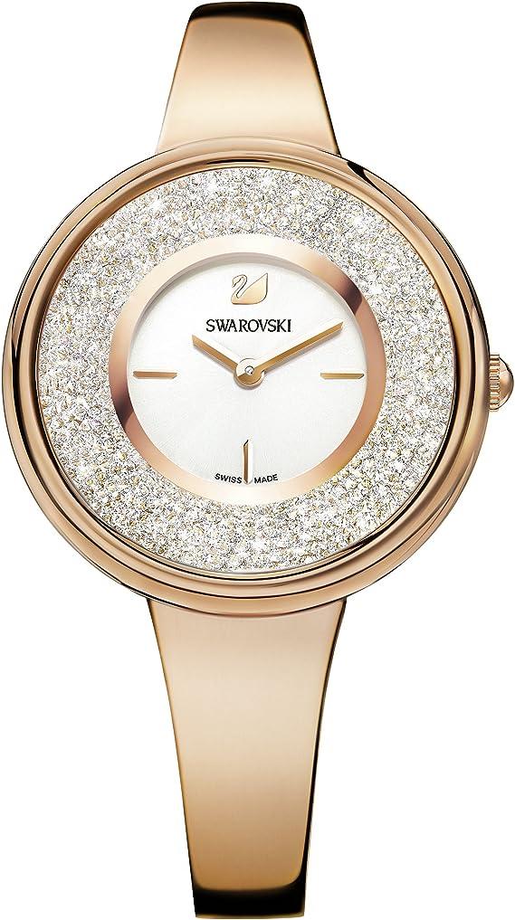 Swarovski Orologio Crystalline Pure Bracciale Di Metallo Bianco Pvd Oro Rosa Amazon It Orologi