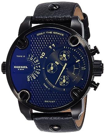 c74c0089929b Diesel Reloj Cronógrafo para Hombre de Cuarzo con Correa en Cuero DZ7257   Amazon.es  Relojes