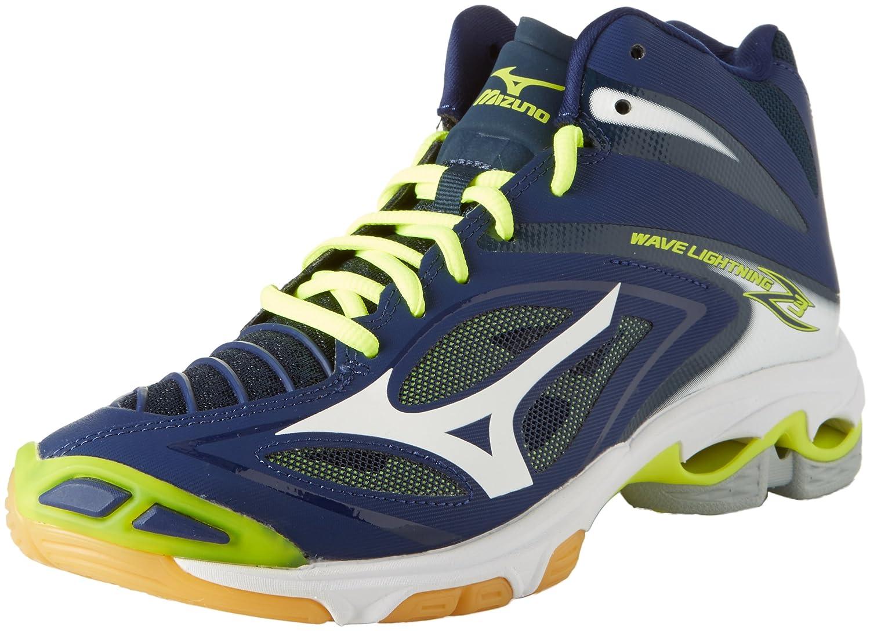 Mizuno, scarpa media da pallavolo per uomo, Wave Lightning Z2, green - black - white, 50
