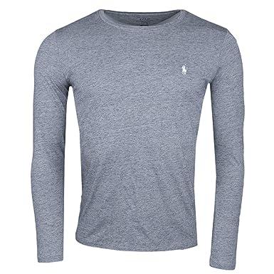 Ralph Lauren T-Shirt Manches Longues Gris pour Homme  Amazon.fr  Vêtements  et accessoires 3726313b4aa5