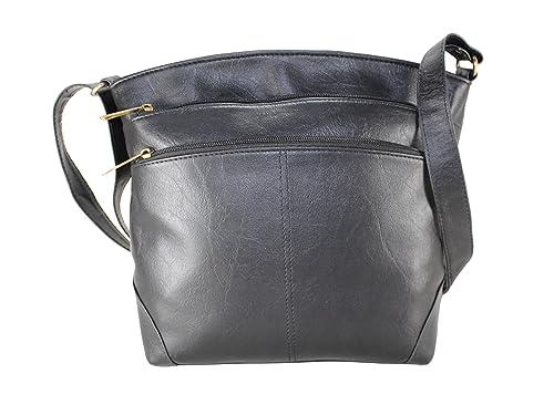 3c4391fc7ec8 Fargo Sun dry PU Leather Women s   Girl s Sling Shoulder Bag  (Black FGO-014)  Amazon.in  Shoes   Handbags