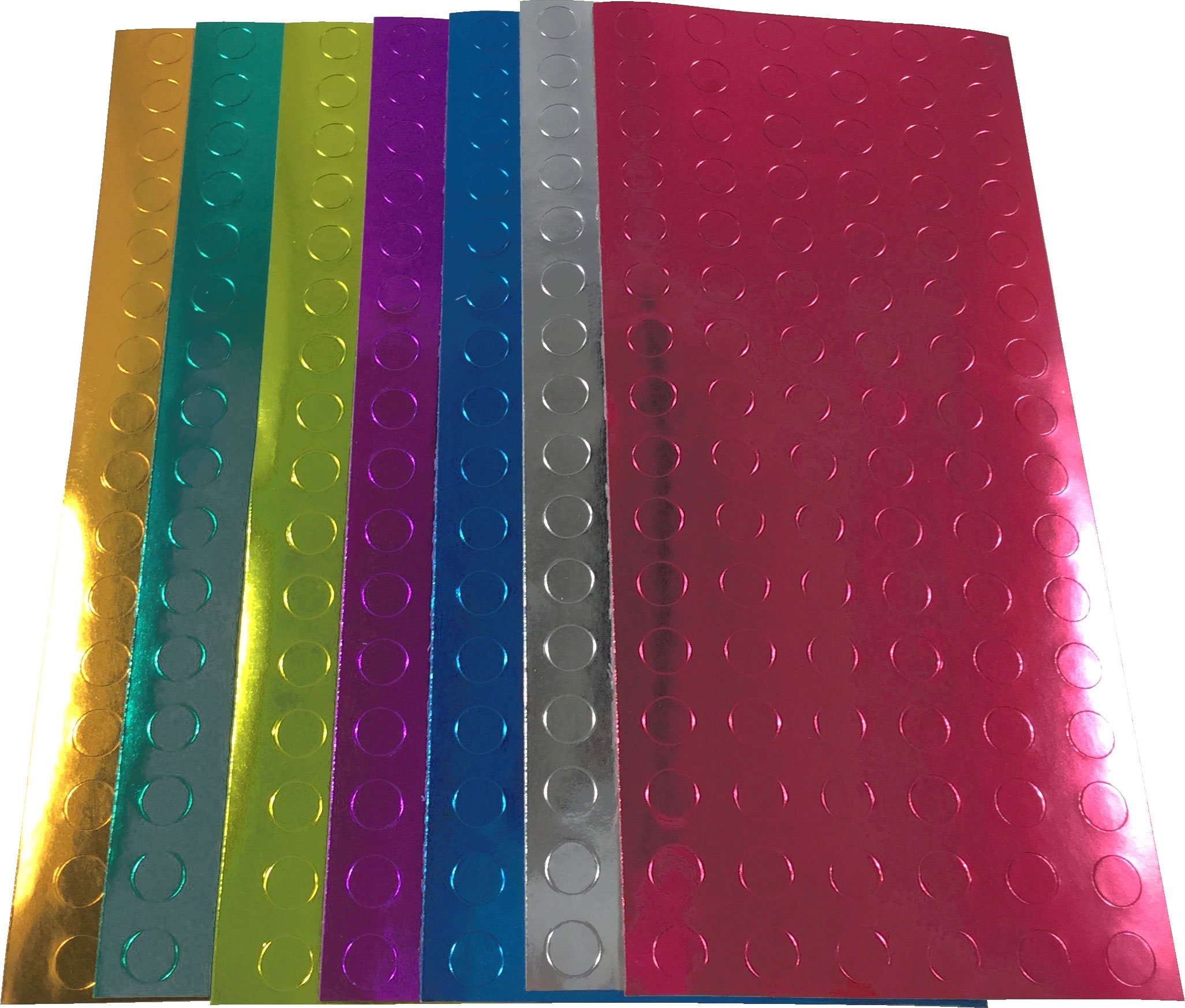 Color Coding Dot Labels For Office Teacher Supplies 1/4 Inch Metallic Assortment Pack 1,344 Stickers 192 Each Color, Silver, Copper, Gold, Blue, Purple, Red, Green