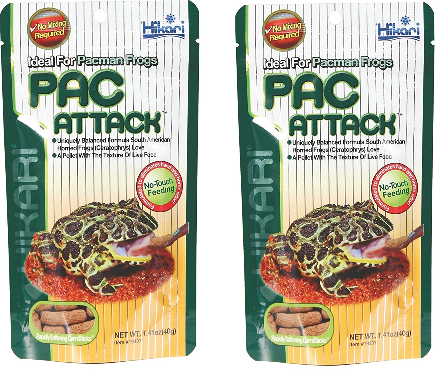 (2 Pack) Hikari Packman Frog PAC Attack Food 1.41 Ounce Each