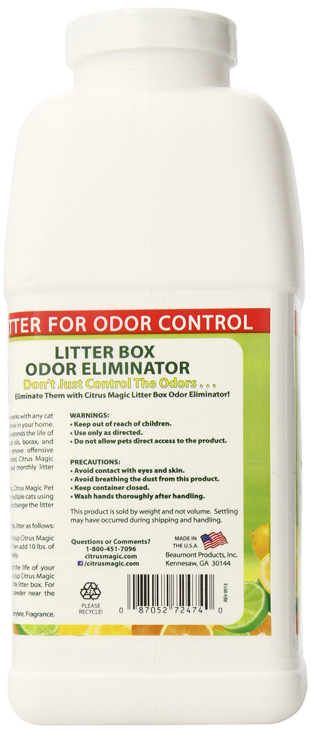 Citrus Magic Pet Litter Box Odor Eliminator Fresh Citrus, 40-Ounce by Citrus Magic (Image #2)