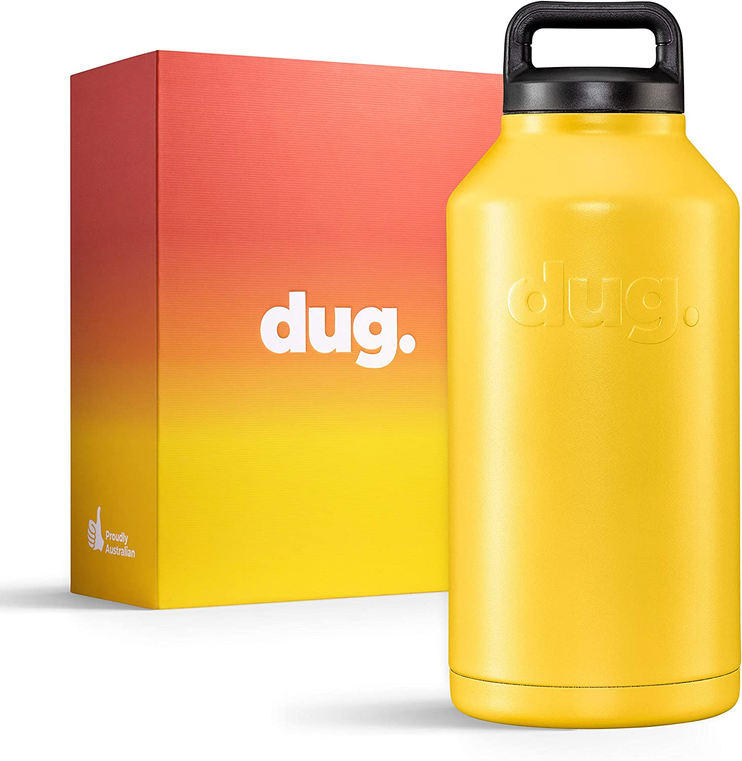 My Mate Dug - Stainless Steel Vacuum Insulated Growler 64oz Keeps Beer and Water Cold - Ready To Drink Anytime, Anywhere