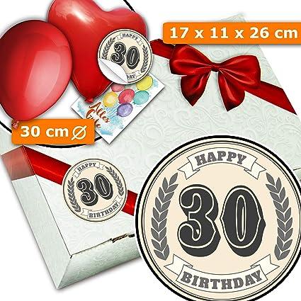 30 Geburtstag Geschenkbox Aus Pappe 30 Geburtstag
