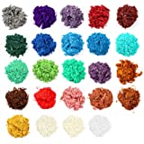 Mica Powder, Resin dye, 24 Colors Powder Pigments, Handmade Soap Making Colorants for Epoxy Resin, Candle Making, Eye…