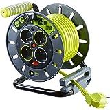 Enrouleur électrique 4 prises 25 mètres NF - câble H05VV-F 3G1.5