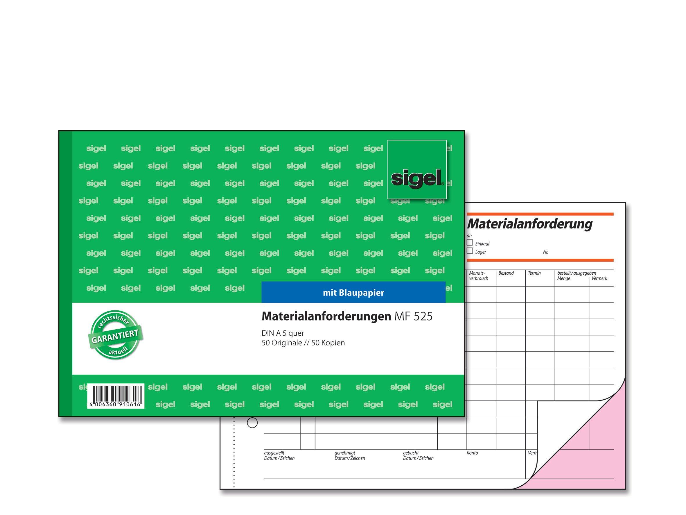Sigel MF525Material Application A5Landscape 2x 50Sheets