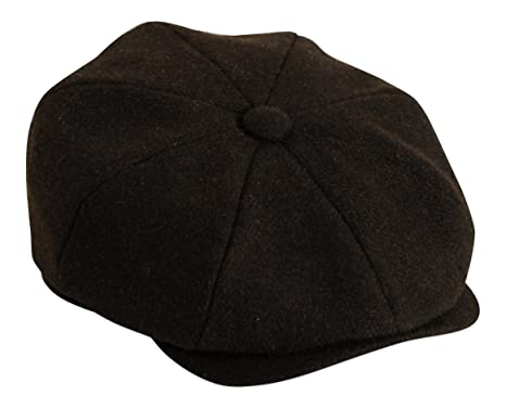 Shelby Black Herringbone Button Top Cap by Gamble & Gunn ...