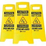 Simpli-Magic 79192 Caution Signs - Wet Floor, Yellow 3 Pack
