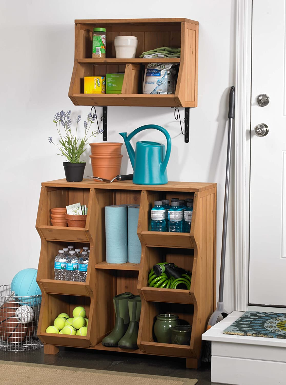 Amazon.com: Merry Products MPG EF02 Wall Cubby With Brackets: Patio, Lawn U0026  Garden