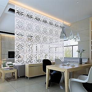 Kernorv DIY Room Divider Partitions Separator Hanging Decorative Panel Screens, 12 PCS Hanging Room Divider Partition Wall Dividers for Bedroom, Dining Room, Living Room, Sitting Room