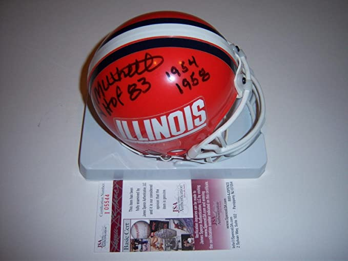 59750d7b Amazon.com: Bobby Mitchell Illinois Fighting Illini,hof coa Signed ...