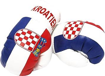 Sportfanshop24 Mini Boxhandschuhe Kroatien 1 Paar 2 Stück Miniboxhandschuhe Z B Für Auto Innenspiegel Auto