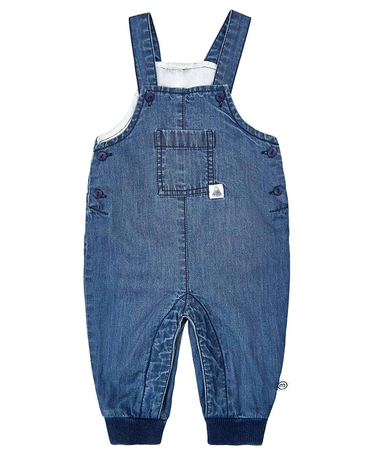MINYMO Baby Boy Overall Chambray Blue
