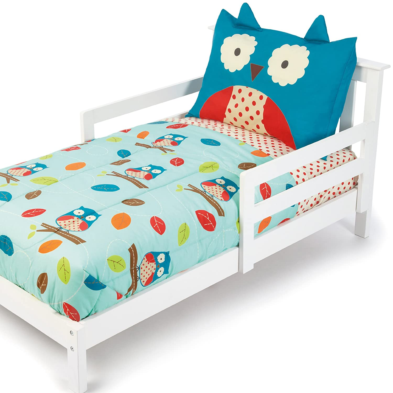 Amazon Com Skip Hop 4 Piece Toddler Bedding Set Owl Toddler Sheet Sets Baby