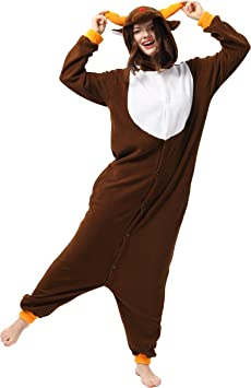 Katara 1744 Kigurumi Unisex Adulti Costume Animale Pigiama intero Carnevale Gufo 155-165cm