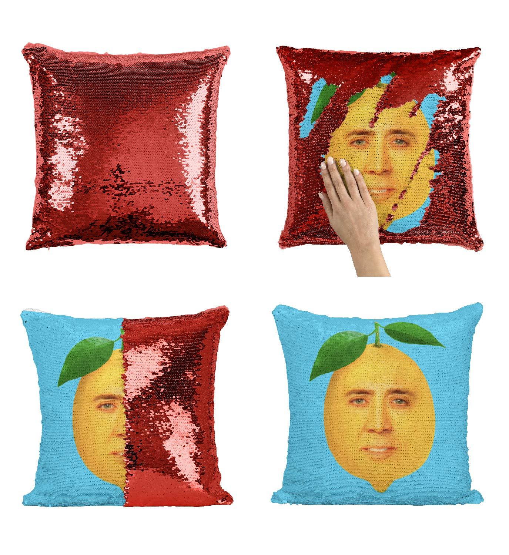 Amazon.com: Lemon Nicolas Cage Face P113 almohada de ...