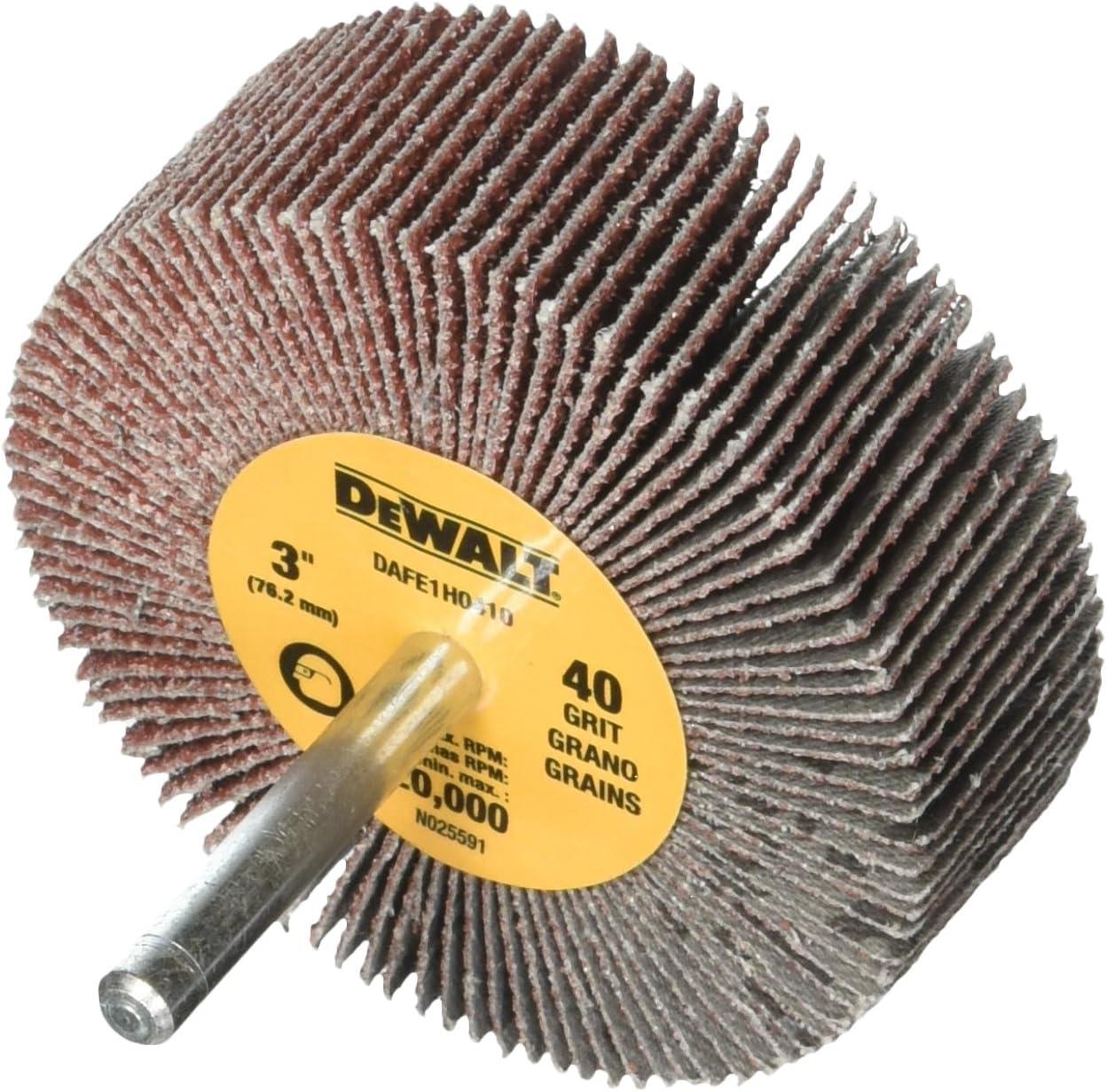 Dewalt DAFE1H0810 Flap wheel 3 inch x 1//4 80 grit lot of 10