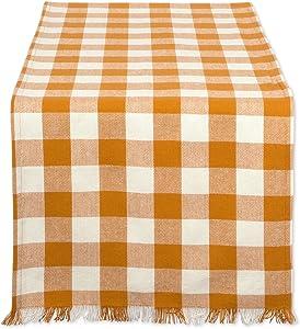 DII CAMZ37580 HVYW FRING TR CHECK 14X72, 14 x 72, Checkered Pumpkin Spice