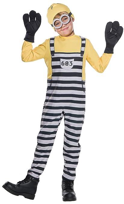 c7926bd3c1b Rubie's Costume Boys Despicable Me 3 Jail Minion Tom Costume, Small,  Multicolor