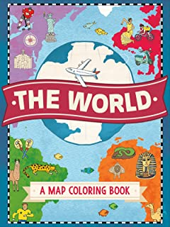 the world a map coloring book - Geography Coloring Book