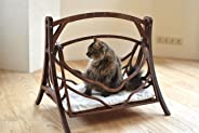 Wood Cat Swings - Wood Bed for Pets - Wood Hammock for Cats - Cat Furniture Cave