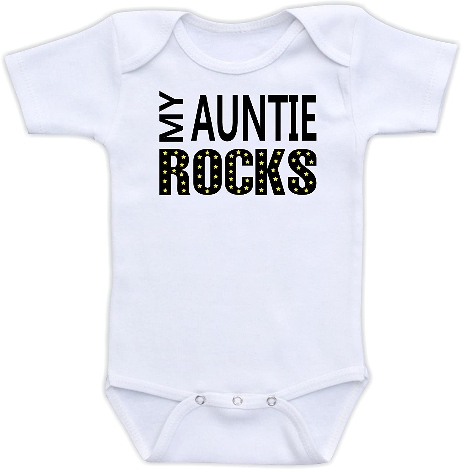 2b1115d654c45 Amazon.com: My Auntie Rocks - Cute Baby Clothes Gender Neutral: Clothing