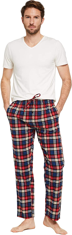 CYZ Mens 100/% Cotton Super Soft Flannel Plaid Pajama Pants