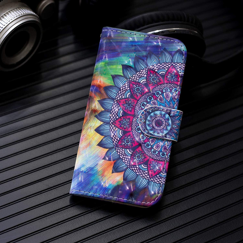 Blau ChoosEU kompatibel mit Samsung Galaxy A10 2019 H/ülle Leder mit Silikon Handyh/ülle Muster Lederh/ülle kartenfach Schutzh/ülle Flip Case Sto/ßfest Standfunktion Handytasche