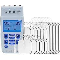 Med-Fit recargable de doble control TENS de 4 canales y estimulador muscular 24 programas clínicamente aprobados y ajuste manual que…
