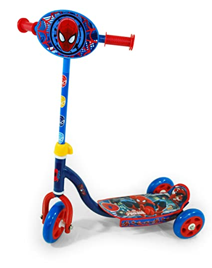 Amazon.com: Ultimate Spiderman Patinete para niños con tres ...